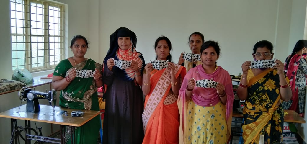 A further 1000 Secret Face Masks have been stitched by our Makers and distributed to communities in Andhra Pradesh