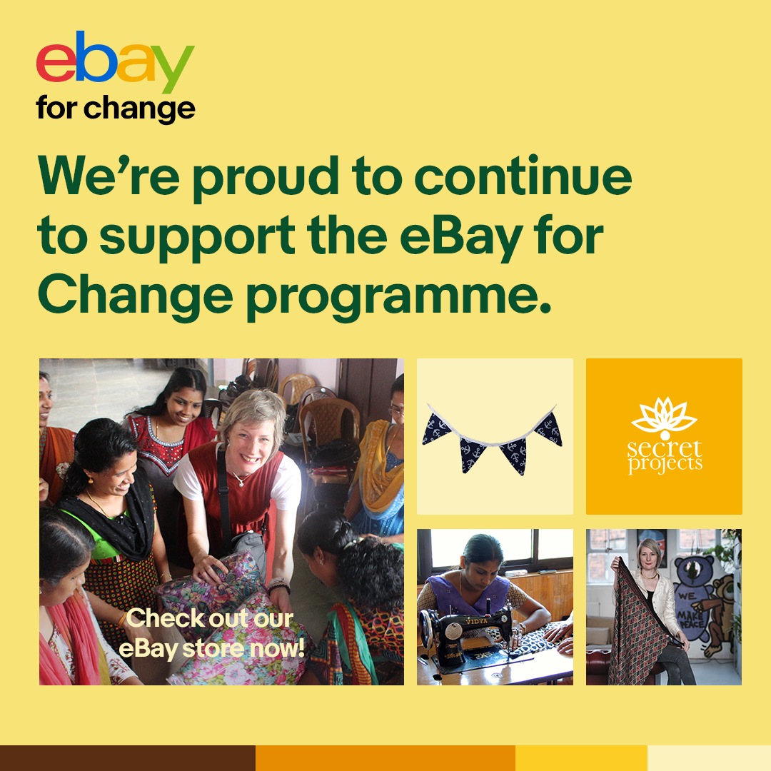 We are eBay for Change Hero Sellers of the month! To celebrate, we have 30% off all Secret Products in our eBay store!