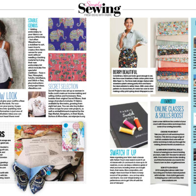 Introducing Fabric by the Metre... as featured on Simply Sewing Magazine's Pinboard!